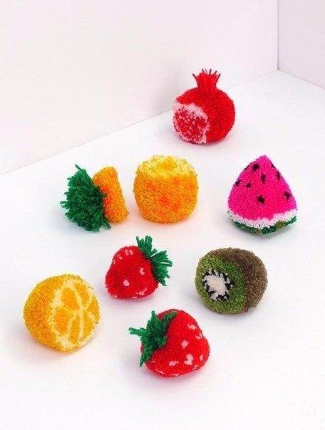 помпоны фрукты своими руками