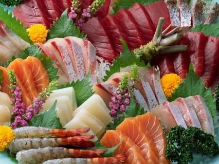 нарезка рыбная и морепродуктов