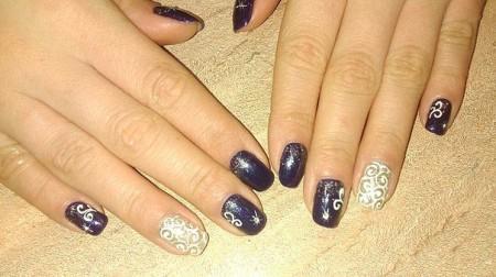 рисунки на ногтях новогодние рисунки