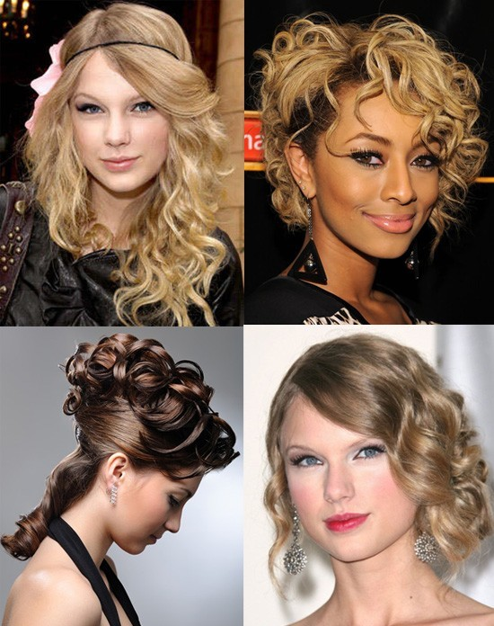 Причёски с локонами на волосы до плеч