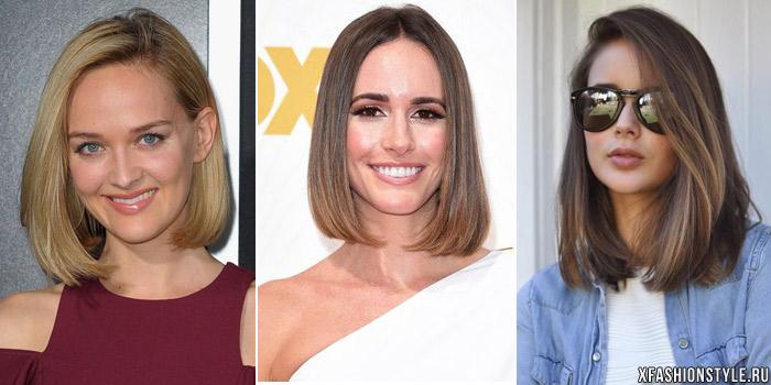 Стрижки на средние волосы без челки 2017 женские