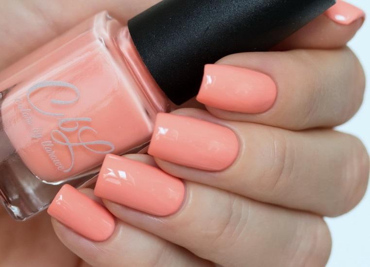 Персиковый цвет лака для ногтей