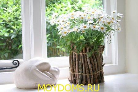 мастер-класс как украсить вазу своими руками