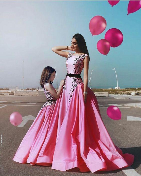стильные платья для мамы и дочки фэмили лук