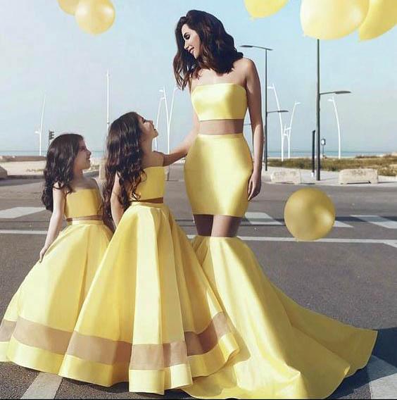 стиль одежды мама-дочка 2019
