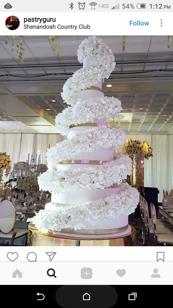 как оформить торт свадебный