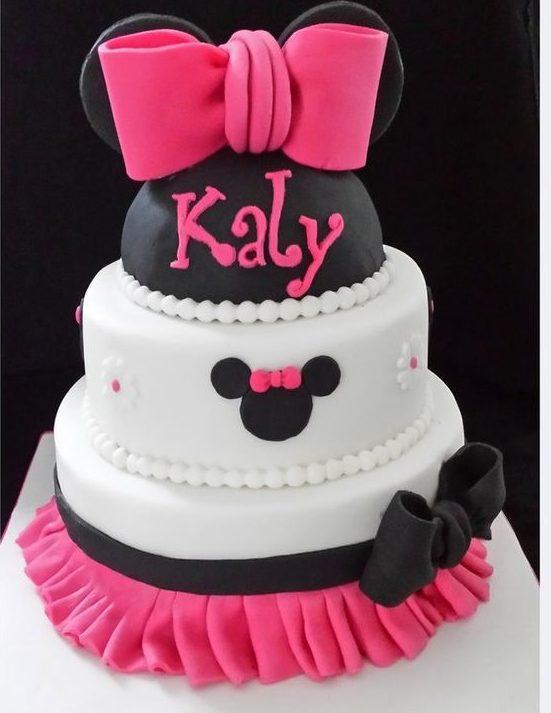 детские торты для девочек Минни на день рождение
