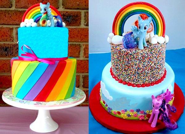 стиль Пони в торте на день рождение дочке