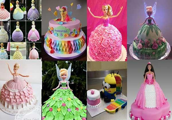 детский торт кукла принцесса фото идеи