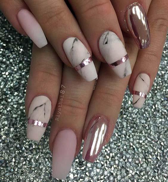 имитация колец на ногтях