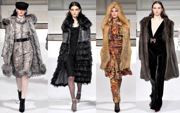 Модные меховые пальто новые фото