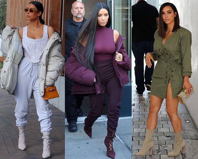 мода женская 2019 сапоги полусапоги на каблуках шнуровка