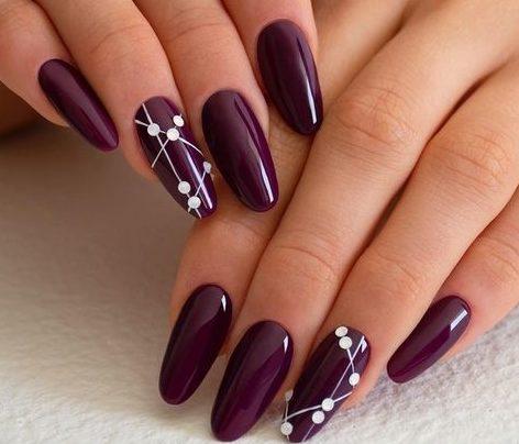 блестящие ногти глянец