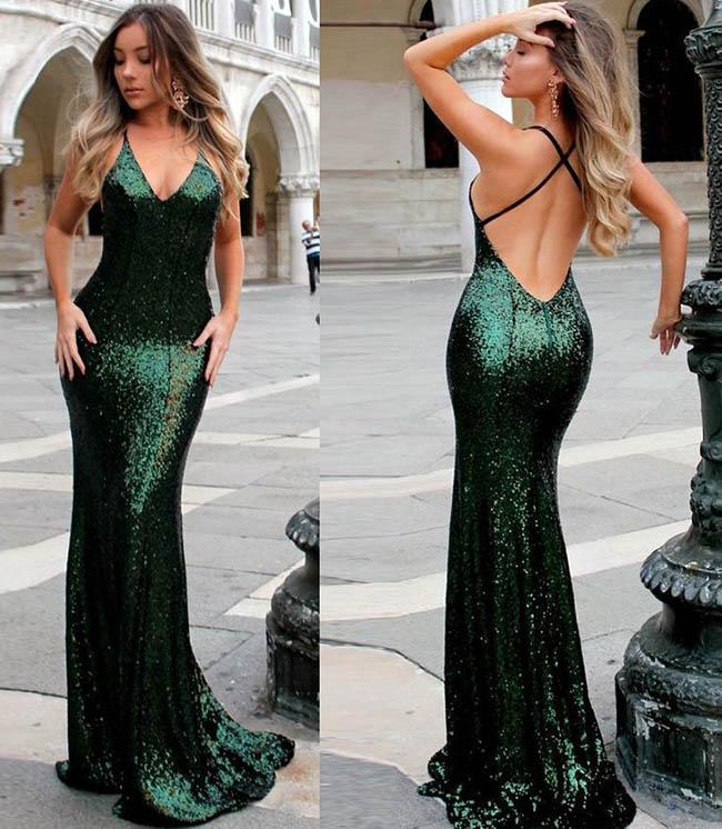 изумрудного цвета вечерние платья 2019