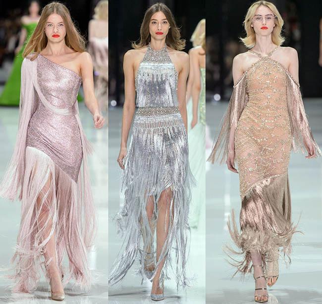 модные платья с бахромой 2019