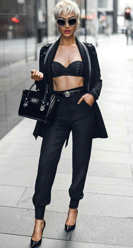 модные брюки 2019 с резинкой внизу