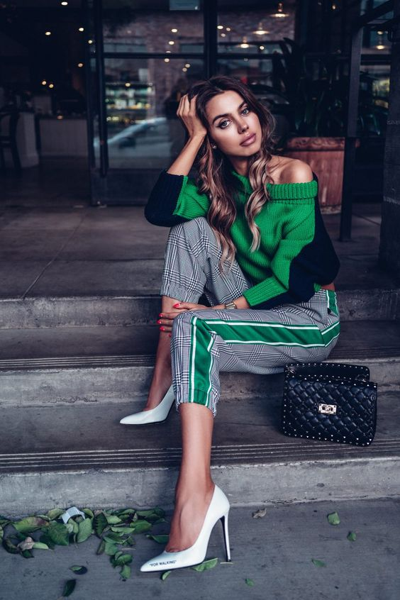 модные брюки 2019 с лампасами