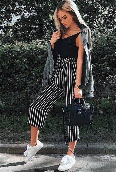 модные брюки 2019 кюлоты