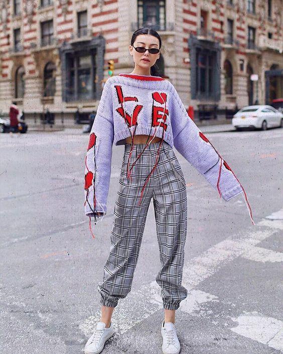 модные брюки 2019 укороченные фото на резинке