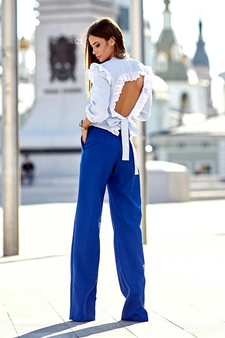 модные брюки 2019 удлиненные фото