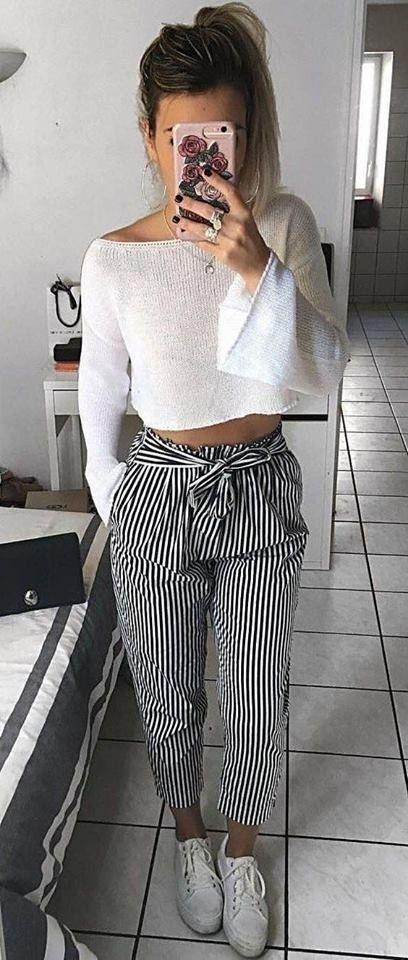 модные брюки 2019 капри