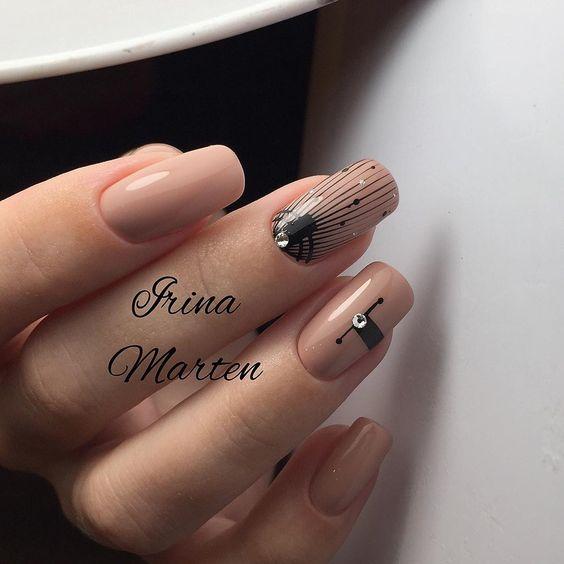 нюдовый дизайн ногтей пастельных тонов 2019