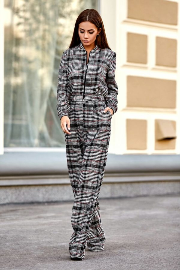 клетка мода брюки 2019
