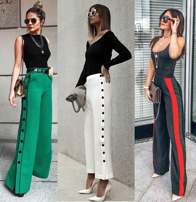 модные широкие брюки 2019 клеш кюлоты