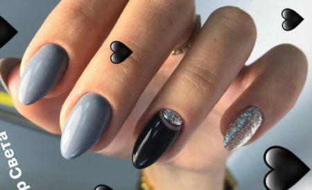 серый дизайн ногтей 2019-2020 новинки