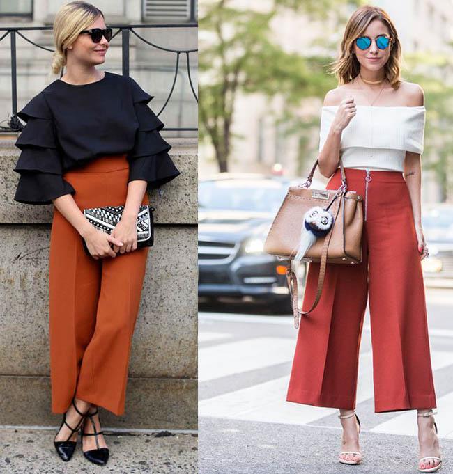 модные брюки 2019 укороченные фото кюлоты