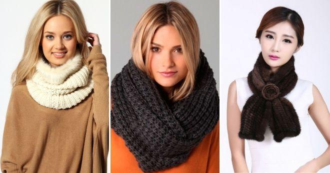 вязаные модные шарфы 2019-2020