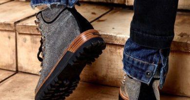 модные ботинки со стразами 2019-2020