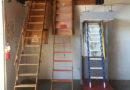 Винтовые и прямые лестницы со сдвижным механизмом  из дерева