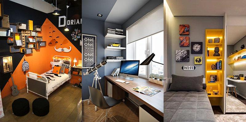 яркий дизайн комнаты подростка фото