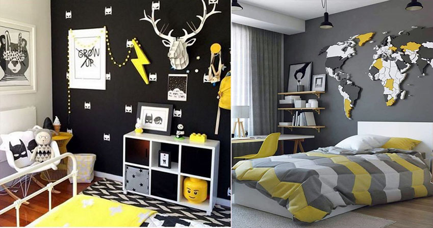 декор интерьера комнаты мальчика идеи фото