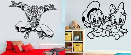 современные обои раскраска для детской комнаты девочкам и мальчикам