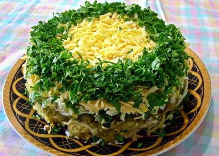 новогодний салат грибы под шубой