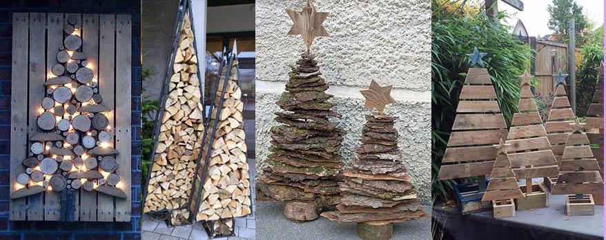 новогодние елки из дерева палок своими руками 2021