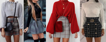 короткие юбки мини 2020-2021 тенденции