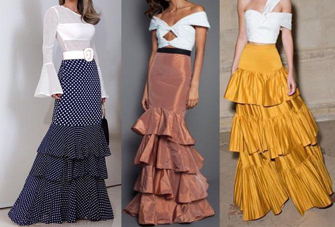 воланы юбки годе 2020-2021