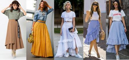 многоуровневые юбки со сборками с воланами мода 2020-2021 фото
