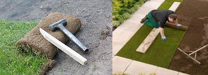 как положить газоновое покрытие