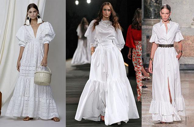 белое платье 2020-2021 лето тенденции