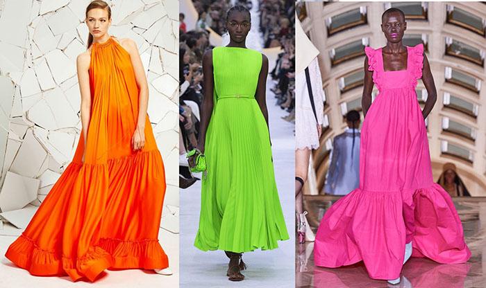 модные платья 2020-2021 лето яркие фасоны