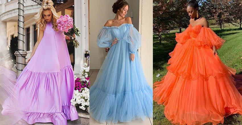 объемные рукава пышные платья 2020-2021