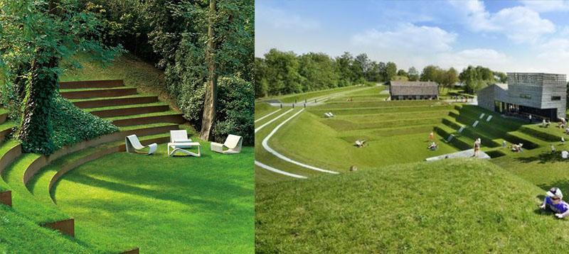 идеи оформления газона