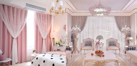 розовые шторы 2021 фото