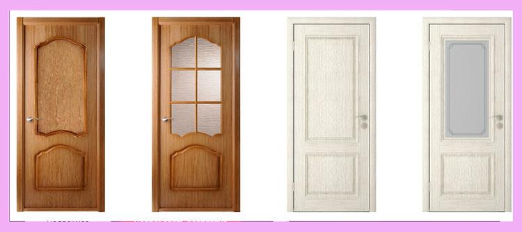 шпонированные двери типы