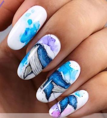 бабочки на ногтях маникюр 2020-2021 идеи