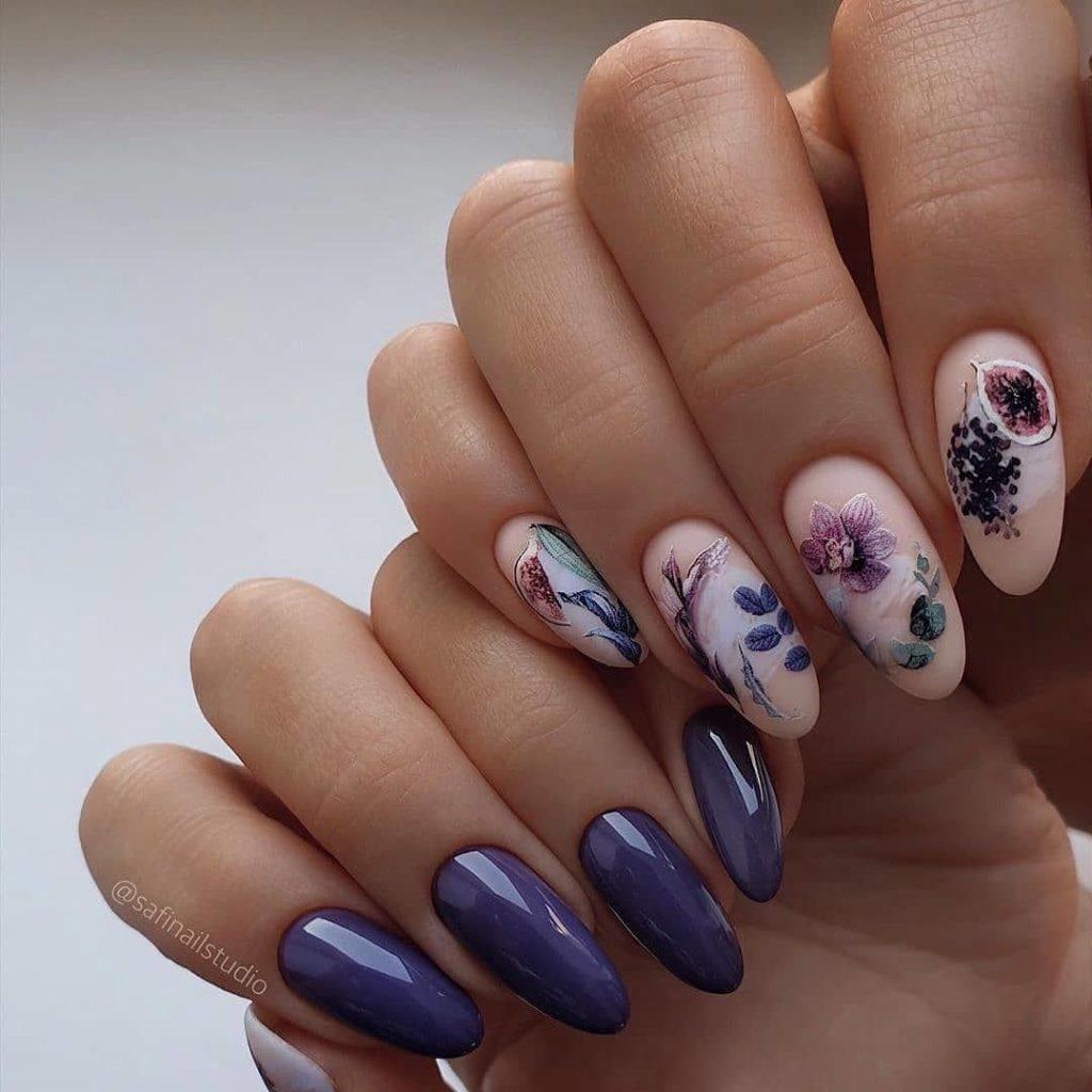 цветы дизайн ногтей идеи 2021